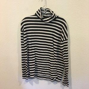 J. Crew black and white long sleeve turtleneck